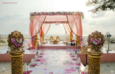 wedding mandap decor ideas for a beach wedding