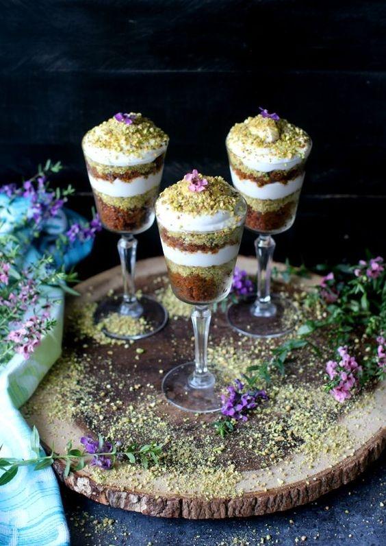 Gajar Halwa Trifle With Coconut Cream