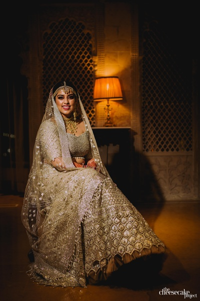 bridal portrait of the beautiful bride