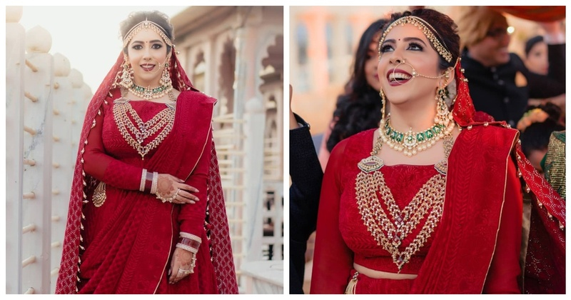 The Bride who Totally Slayed it in a red Unembellished Lehenga!