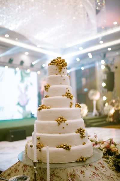 Larger than life wedding cake for the reception ceremony