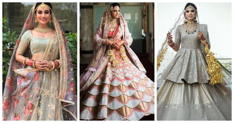 10 Brides who ditched the mundane options and opted for truly unique lehengas!