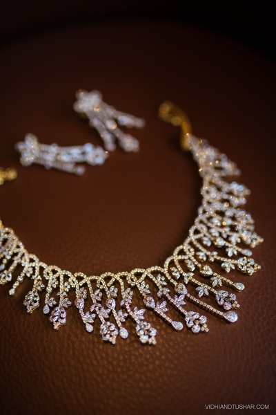 Diamond necklace set. Jewellery ideas for bride