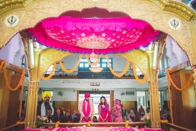 Sikh wedding ceremony at the gurudwara