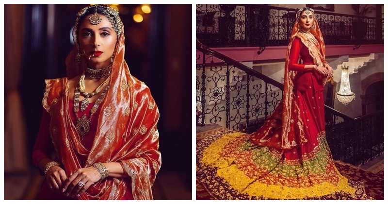 Pernia Qureshi's Heirloom Reception Outfit is Perfect for a Regal Bride