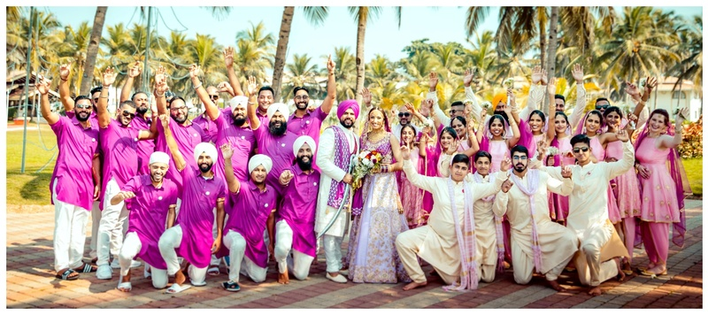 Paul & Neelam Goa : Neelam and Paul's colour coordinated wedding painted the town purple!