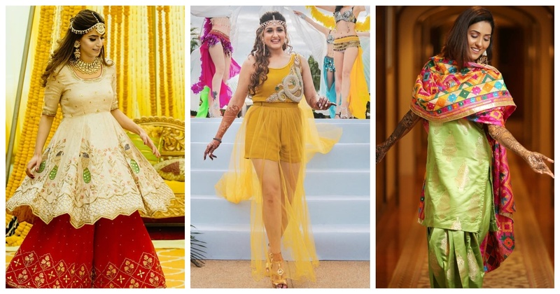 10 Offbeat Mehendi Outfits which are sure to leave you WOWED!