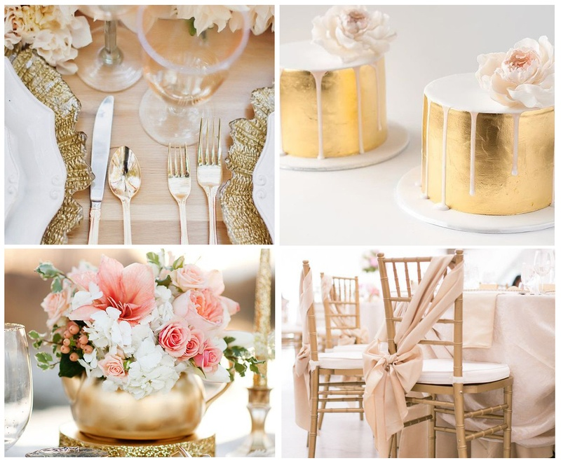 Incorporate Metallics in your Wedding Decoration - Western Wedding Inspo!