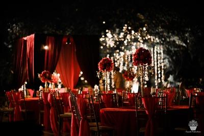 Dinner decor of the reception
