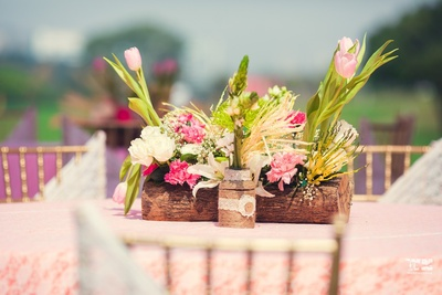 Table decor for the wedding ceremony