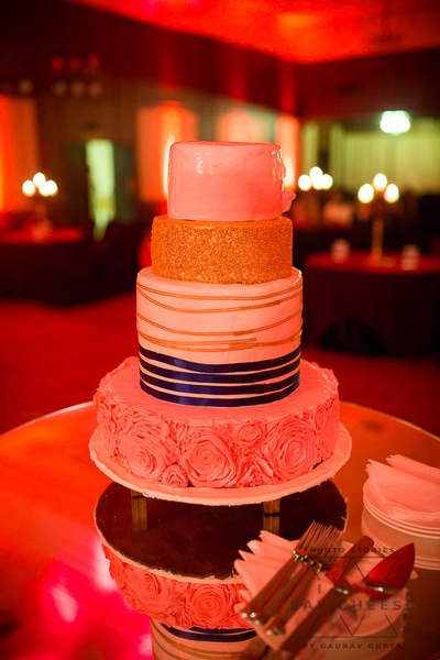 a four tiered cake for the reception
