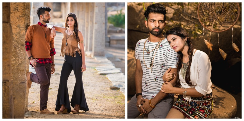 This Boho themed pre-wedding shoot at Hampi is as fresh and unique as it gets!