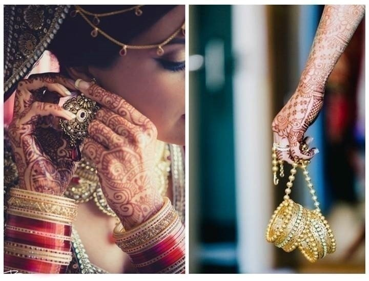 Mehndi shots with your wedding jewellery. Two birds with one stone ;D