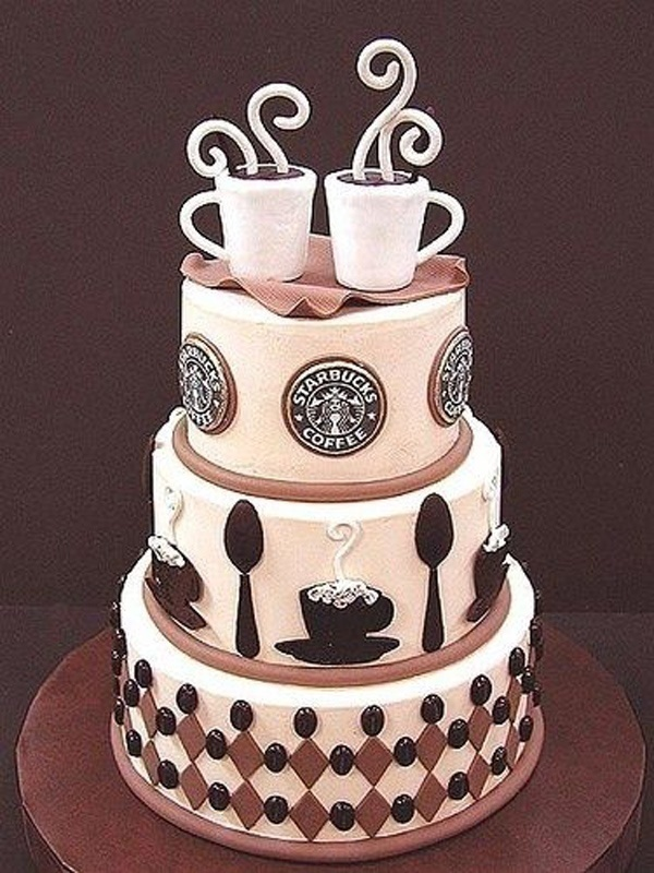 Show Off Your Addiction: Coffee Wedding Cakes