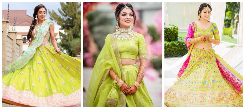 8 Gorgeous lime-green lehengas which will make you fall in love with this colour!