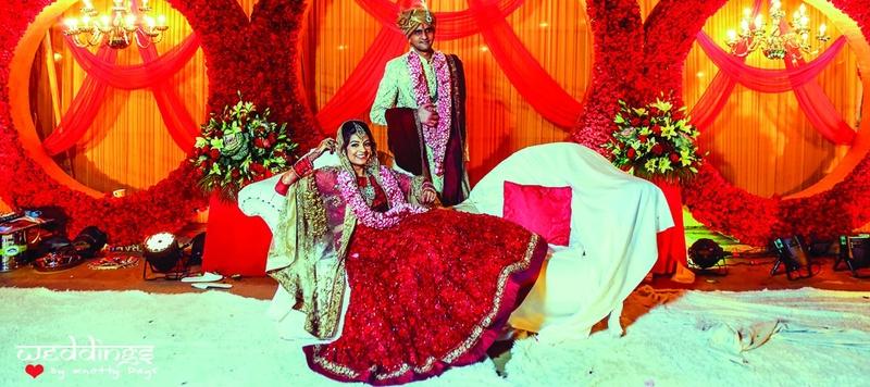 Sameer & Mallika Delhi : Love in Paris, followed by a splendid wedding in Delhi. Look out for the vibrant mehndi decor!
