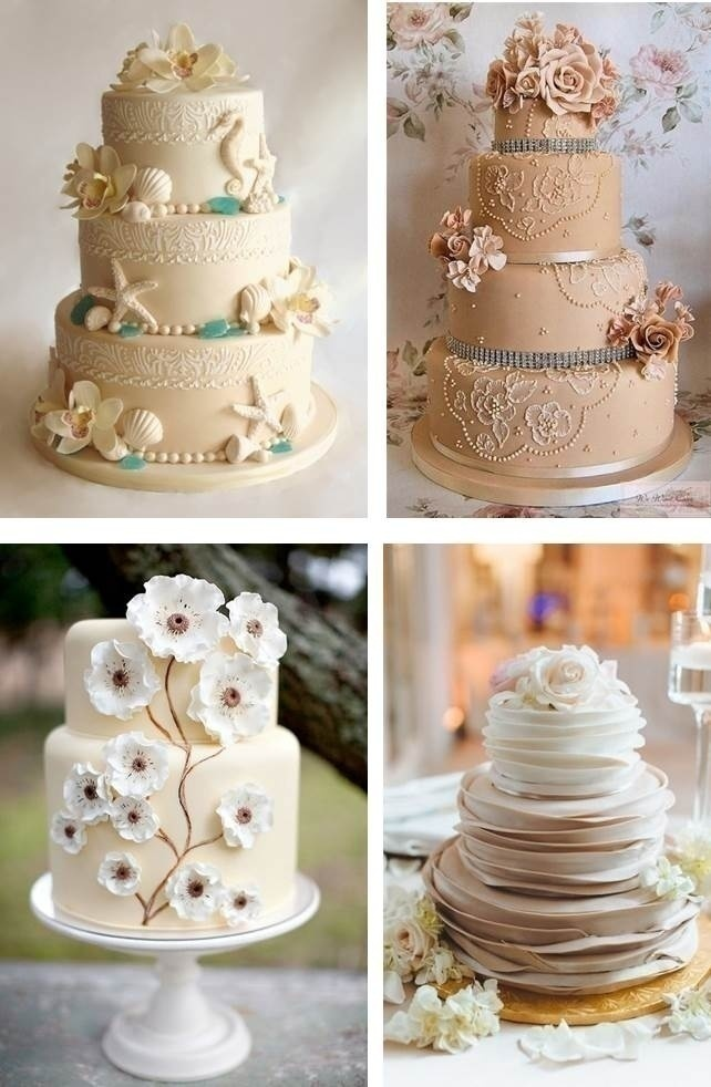 NEUTRAL WEDDING CAKES