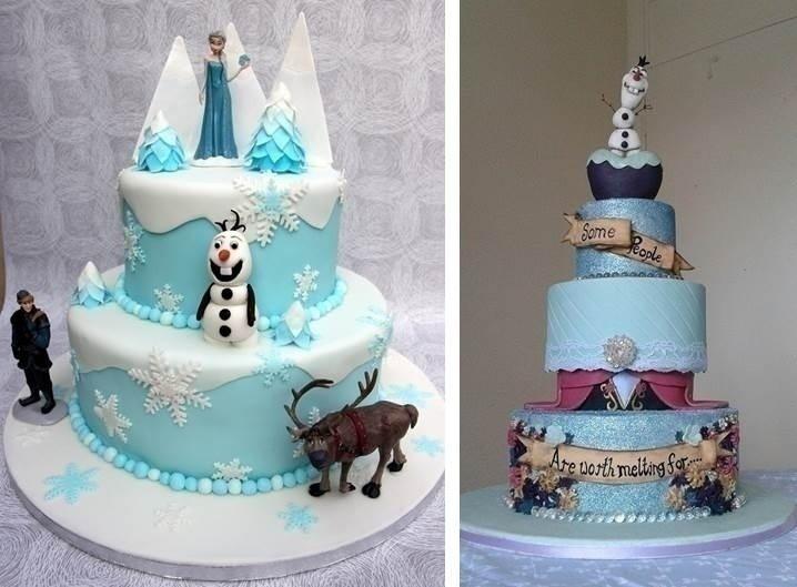 DISNEY'S 'FROZEN' INSPIRED WEDDING CAKE