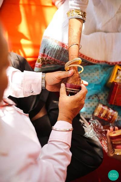 Embracing the chooda ceremony
