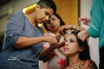 Bridal makeup by Sabrina Suhail, Bangalore.