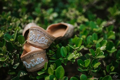 We love quirky and customized wedding attires!