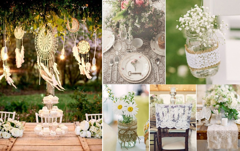 9 Simple Secrets To Use Lace For A Vintage Or Bohemian Wedding Theme