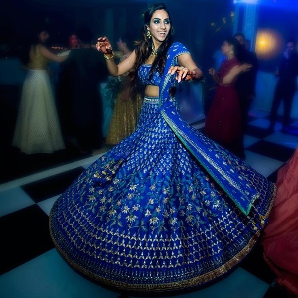 c18ac2d50a 25 Blue lehengas for the brides who plan to ditch the reds and pinks ...