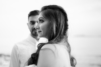 beautiful black and white capture of the couple