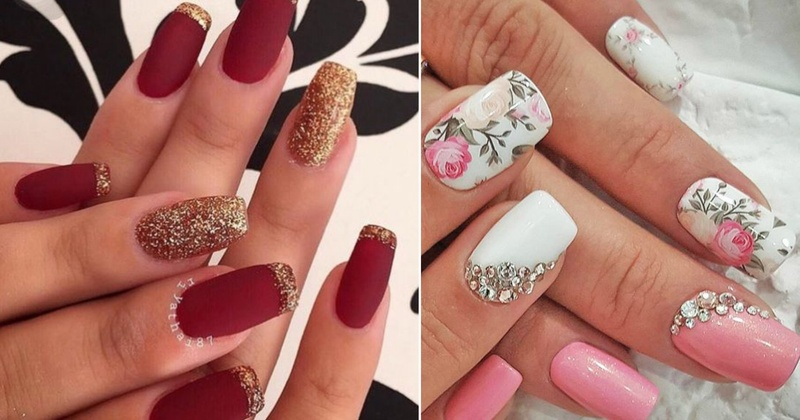 10+ Easy and Gorgeous Wedding Nail Art Design Ideas for the Indian ...