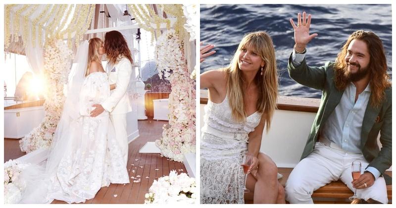 Heidi Klum Stuns in Kaviar Gauche Wedding Dress in Capri, Italy!
