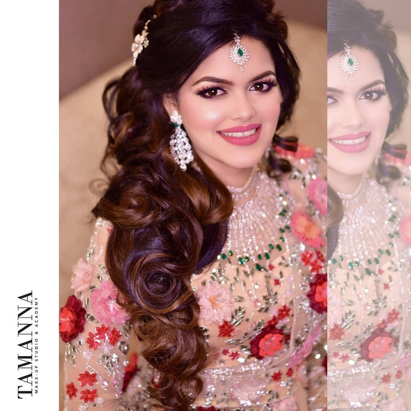 Wedding Hairstyle Ideas For Mehndi Sangeet Wedding Reception Blog