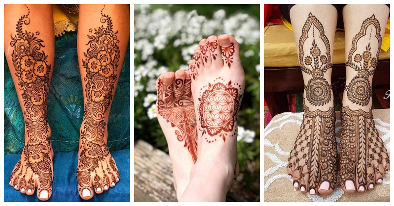 Leg Mehndi Design Ideas for Every Bride Getting Hitched in 2019