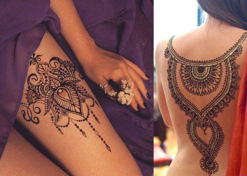 Mehndi Designs On Hips : Incredibly attractive bridal mehndi designs that are not for your