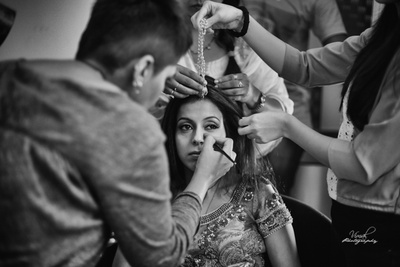 Bride getting ready for the wedding !