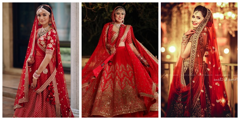 10 Bridal Red Lehengas that will make you wish you were getting married tomorrow
