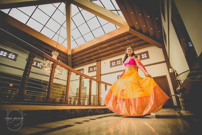 candid twirling bride poses