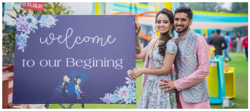 Tushar & Malvika Delhi : Chic decor, elegant outfits and an enviable story- this wedding is inspo for the new-age couples!