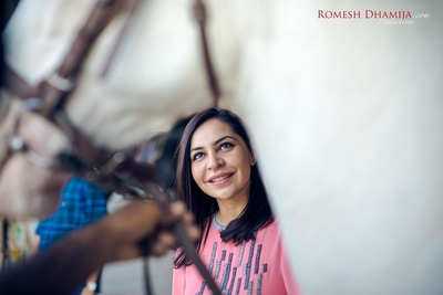 Kushal's close up shot for her pre wedding shoot.