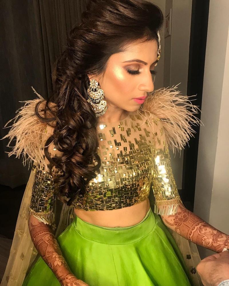 wedding hairstyle ideas for mehndi, sangeet, wedding