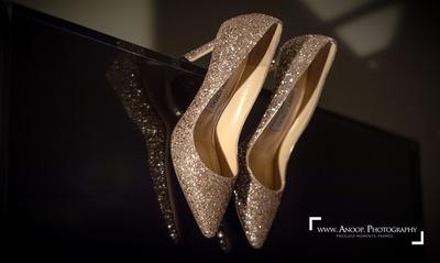 Jimmy Choo heels of the bride