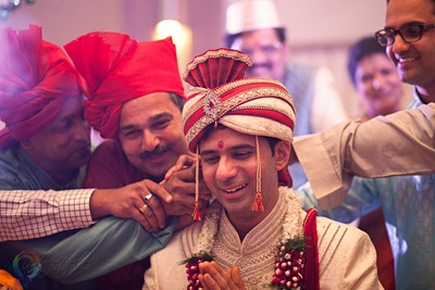 Kaankhichai ceremony performed by the brothers of the bride