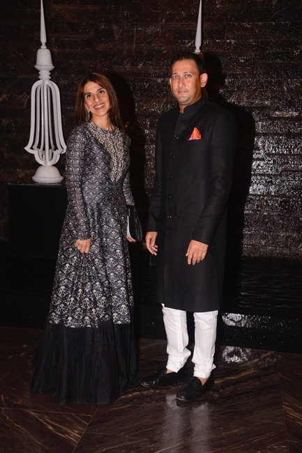 Ajith Agarkar with wife Fatima