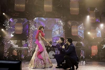 Azhar and Mika serenading Tanya.