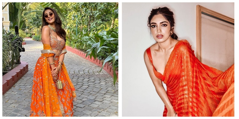 7 Orange Outfits to Make a Statement this Wedding Season