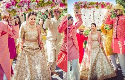 Beautiful phoolon ki chaadar for bridal entry!