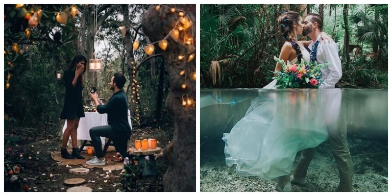 20 beautiful proposals in the most offbeat places around the world!