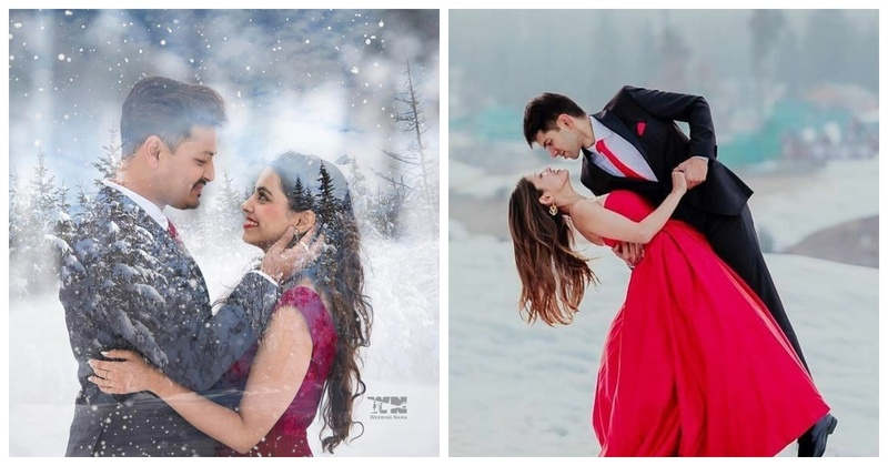 10 mushy and romantic couple shots with a snowy backdrop that you just cannot miss!