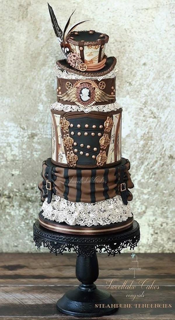 Dark and Whimsical: Goth Wedding Cakes