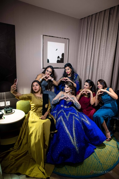 The bride with her amazing girl gang!
