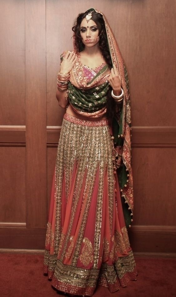 Go Vertical and Fuller With Your Bridal Lehenga Ghera